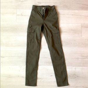 H&M Divided olive green slim fit hi waist cargo 2